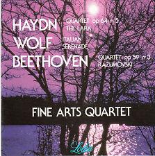 Haydn Wolf Beethoven fine arts Quartett CD Japan
