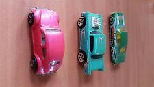 Mattel Lot of 3 Hot wheels cars - volkswagon; 1965 impala, 57' chevy