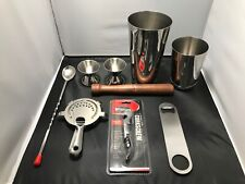 BARTENDER KIT 9-piece Set MIXOLOGY TOOLS COCKTAILS New