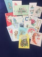 Lot Of 19 Vintage Birthday Greeting Cards