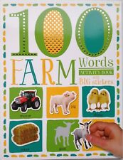 100 Farm Words Activity Book with Big Stickers