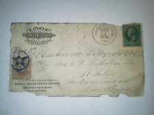 1879 Independent Order of the Odd Fellows Cover Front w/3c Postage & Star Cancel