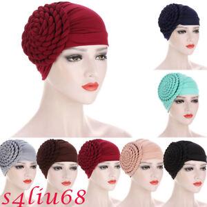 Women Ladies Head Scarf Wrap Turban Hat Bonnet Hijab Braid Hair Loss Chemo Caps