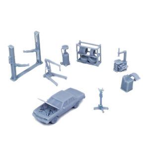 Outland Models Railway Scenery Car Maintenance Accessories Set 1:87 HO Scale
