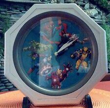 SUPERHEROES GRAPHIC ICON (2) Memorabilia Collectors' Wall Clock