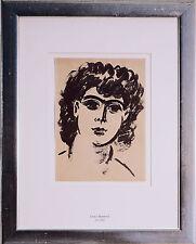 Frans Masereel: laure Malclès, masereels compañera, tinta china C. 1940er años