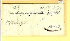 Pr Vor / CLEVE kleiner K2 (F 8) 1845 auf Pracht-Tax.-Brief
