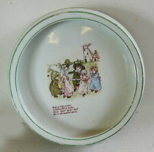 More details for antique / vintage nursery ware baby / childs bowl / plate. kate greenaway