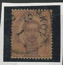 Thailand: 1887; Scott 18, King CHulalongkorn, Good piece Used, VF,  TH02