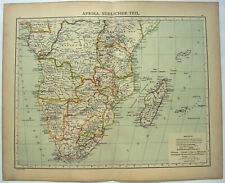 Southern Africa - Original 1900 Map by Carl Wolf. A Colonial Era Antique