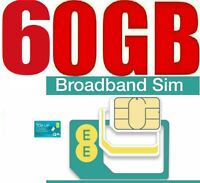 T-Mobile 60GB Data ( 6 Month Internet ) EE 4G Pay as you go Unlimited Bundle SIM