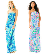 LILLY PULITZER MARLISA MAXI DRESS Beckon Blue Palm Passage/Dancing On The Deck
