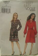 V8847 Very Easy Vogue Women's Dress Sewing Patterns For Sizes 16, 18, 20, 22, 24