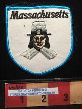 Vtg Mass. Jacket Patch ~Looks Like A Plymouth Rock Pilgrim / Puritan Guy MA 61U5
