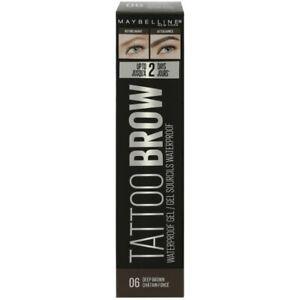 Maybelline Tattoo Brow Waterproof Gel - 06 Deep Brown New
