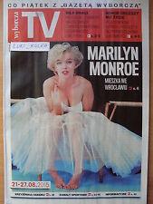 MARILYN MONROE on front cover Polish Magazine WYBORCZA TV
