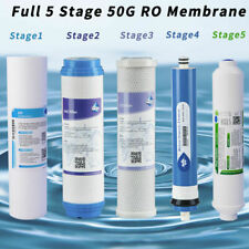 5 Stage Reverse Osmosis System Filters Replacement Set Universal w/50G Ro unit