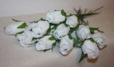 Flores secas y artificiales decorativas ramos color principal blanco para el hogar