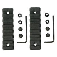 2 PCS Keymod 7 Slot Picatinny/Weaver Rail Handguard Section Polymer - 3 inch