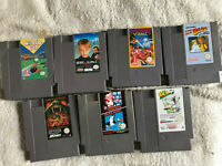 Bundle of 7 Nintendo NES Games / PAL A & USA / Mario Home Alone Kick Off / Lot