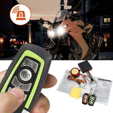 Motorcycle Motorbike Anti-theft Security Alarm System Immobiliser Remote Control