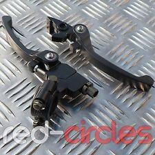 BLACK FOLDING PIT BIKE CLUTCH & BRAKE LEVER SET 50cc 110cc 125cc PITBIKE
