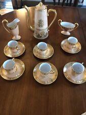 Limoges Peach Gold Demitasse Coffee Tea Chocolate Espresso