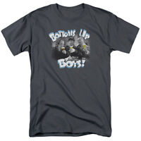 Three Stooges Drinking Beer Bottoms Up Boys! Licensed Tee Shirt Adult S-3XL