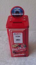 Disney Pixar Cars 2 Lightning McQueen Tin Gas Pump Bank