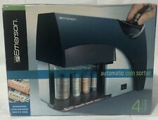 New Listingautomatic Coin Sorter Counter Wrapper Machine Bank Money Change Cib Emerson