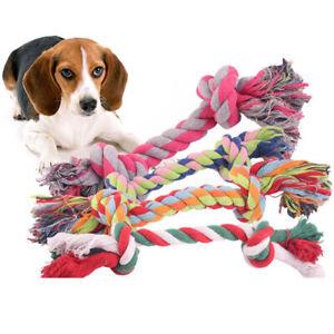 1pcs pet supplies Pet Dog Puppy Cotton Chew Knot Toy Durable Braided Bone Ro.BI