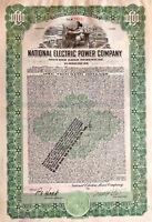 National Electric Power Company > 1928 Maine bond certificate share
