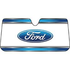 Ford Logo Foldable Ultra Durable Front Windshield Sunshade Cover - Plasticolor