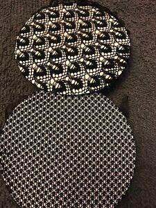 Black hair bun net thin mesh fabric frilly edge crochet ballet dance riding