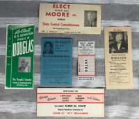 Vintage Chicago Illinois 1960s Election Campaign Cards Brochures Election 1960s