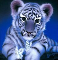 5D DIY Diamond Painting Little Tiger Part Drill Embroidery Cross Stitch Art Kit