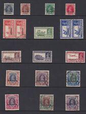 BAHRAIN BRITISH COLONY SCOTT 20 TO 37 1942 USED (CAT $535)