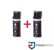 Bombe Lacrymogene pack Spray de défense 50 ml Gel CS + 50 ml Gaz CS CBM