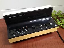 VINTAGE Retro 70's SHARP ELECTRONIC DIGITAL CLOCK RADIO - YELLOW AND BLACK!