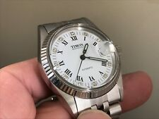 RARE CLASSIC NEW OLD STOCK TIMON INT 7522/4 17 JEWELS DATE AUTOMATIC MEN'S WATCH