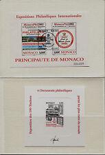 Monaco - 2002 - Monacophil + Prova d'artista - annullo FDC