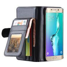 Photo Frame Card Slot Wallet Case Magnetic Flip Folding Cover For iPhone Samsung