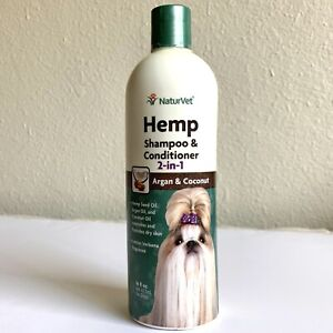 NaturVet Hemp 2-in-1 Shampoo & Conditioner for Dogs 16oz Paraben & Sulfate Free