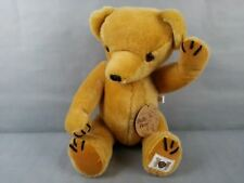 Vintage Unique Mohair Bully Bear Teddy by Peter Bull With Original Tags