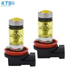 4300K Yellow H11 H8 Fog Light 2323 LED 100W Driving Projector DRL Bulbs
