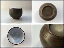 Japanese Pottery Tea Cup Vintage Signed Tokoname Ware Green Marble Sencha P161
