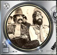 "Cheech and Chong Stoner Slipmat Turntable 12"" LP Record Player, DJ Audiophile"
