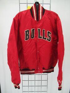 I6448 VTG Starter NBA Button-Up Chicago Bulls Varsity Jacket Size L
