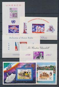 XC89362 Liberia imperf mixed thematics sheets XXL MNH