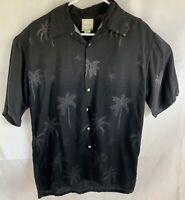 Saddlebred Black Palm Tree Tropical Large Hawaiian Shirt Sleeve Shirt